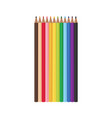 set of 12 realistic colored pencils isolated on a vector image