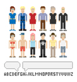 Set of pixel people vector image vector image