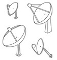 set of satellite dish vector image