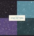 set seamless star pattern vector image vector image