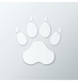 Shiny Plastic Trace of Dog vector image vector image