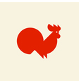 Silhouette of cute rooster vector image vector image