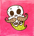 Skeleton with Facial Hair Cartoon vector image vector image