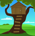 Small Tree House vector image vector image