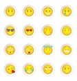 Smiles icons set vector image vector image