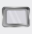 steel tray vector image