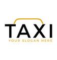 taxi service brand logo design vector image