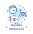 temporary concept icon odd job idea thin line vector image vector image