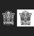 viking vintage monochrome label vector image