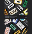 vintage retro cassette tape poster design template vector image vector image