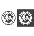 vintage surfing monochrome round emblem vector image vector image
