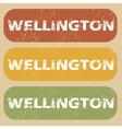 Vintage Wellington stamp set vector image