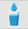 water glass icon in flat style soda glass on vector image vector image