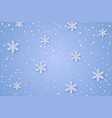 winter paper background vector image