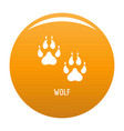 wolf step icon orange vector image