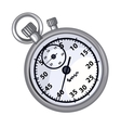 Classic grey chronometer on a white background vector image