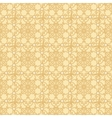 Yellow-beige floral seamless pattern vector image