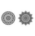 abstract circle mandala decorative element vector image
