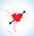Heart and arrow blots vector image