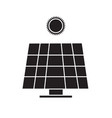 solar energy panel icon on white background solar vector image