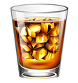A glass of a distilled spirit drink vector image vector image