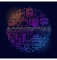 Accounting round bright vector image vector image