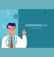 ask doctor doctor medical professional is vector image vector image
