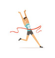 athletic man taking part in running competition vector image vector image