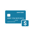 bank card dollar money icon vector image