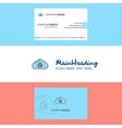 beautiful bug on cloud logo and business card vector image