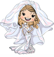 Beautiful fashionable happy girl bride vector image vector image