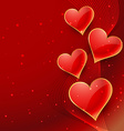 beautiful hearts background vector image vector image