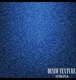 blue denim texture background vector image vector image