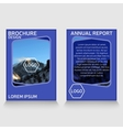 Brochure design annual report cover vector image vector image
