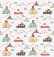 camping car pattern background vector image vector image
