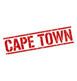cape town red square stamp vector image vector image