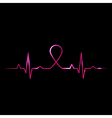 Cardiogram with breast cancer symbol vector | Price: 1 Credit (USD $1)