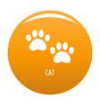 cat step icon orange vector image vector image