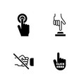 click the button simple related icons vector image