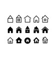collection different house web icons vector image