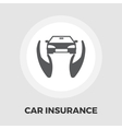 Concept car insurance flat icon vector image
