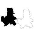 dak nong province map vector image vector image