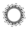 digital sound vibrations logo audio equalizer