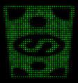 dollar banknote halftone icon vector image vector image
