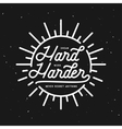 Dream hard work harder motivational typography vector image