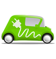 electro car cartoon safe ecology vector image vector image