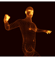 Fighting Man 3D Model of Man Human Body Model vector image