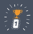 first place award sign winner medal icon vector image vector image