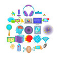 get information icons set cartoon style vector image vector image