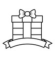 gift box present with ribbon vector image